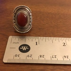 Jewelry - Handcrafted 925 Carnelian Ring